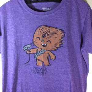 Star Wars Tops - Disney Star Wars Funko Tee Chewbacca